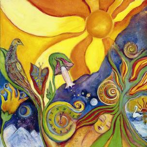 Kunst Gemälde acid visions kunst gemälde